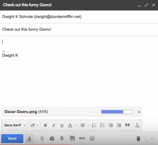 How to attach a file in Gmail 2